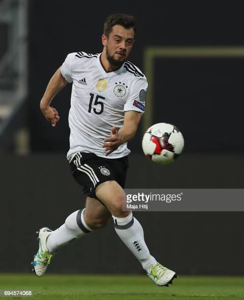Amin Younes of Germany in action during the FIFA 2018 World Cup Qualifier between Germany and San Marino at Stadion Nurnberg on June 10 2017 in...