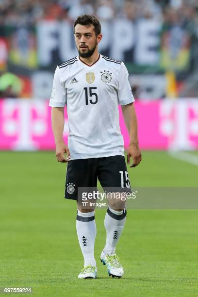 Amin Younes of Germany looks on during the FIFA 2018 World Cup Qualifier between Germany and San Marino at Stadion Nuernberg on June 10 2017 in...