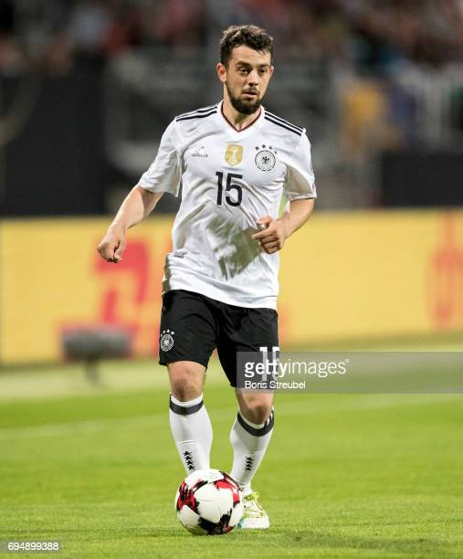 Amin Younes of Germany runs with the ball during the FIFA 2018 World Cup Qualifier between Germany and San Marino at Stadion Nuernberg on June 10...