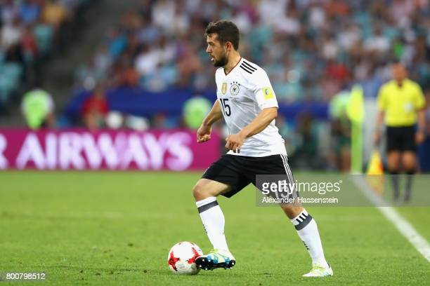 Amin Younes of Germany runs with the ball during the FIFA Confederations Cup Russia 2017 Group B match between Germany and Cameroon at Fisht Olympic...