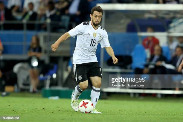 Amin Younes of Germany runs with the ball during the FIFA Confederations Cup Russia 2017 SemiFinal between Germany and Mexico at Fisht Olympic...