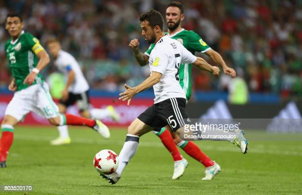 Amin Younes of Germany scores his side's fourth goal during the FIFA Confederations Cup Russia 2017 SemiFinal between Germany and Mexico at Fisht...