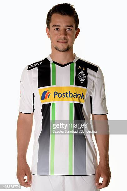Amin Younes poses during the Media Day of Borussia Moenchengladbach at BorussiaPark on July 10 2014 in Moenchengladbach Germany