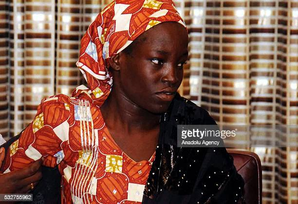 Amina Ali Nkeki who was one of the Nigerian school girls that are kidnapped by Boko Haram visits President of Nigeria Muhammadu Buhari at the...