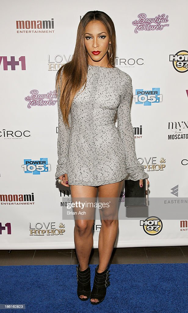 Amina Buddafly appears at the VH1 'Love & Hip Hop' Season 4 Premiere at Stage 48 on October 28, 2013 in New York City.