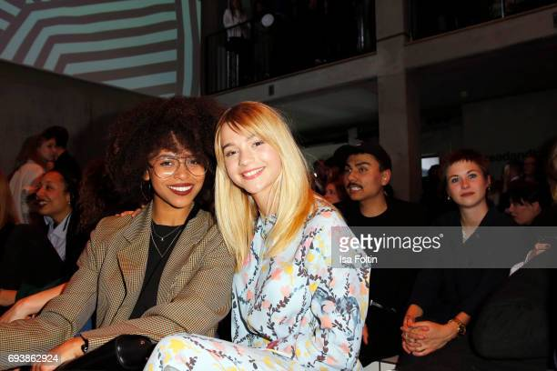 Aminata Belli and LisaMarie Koroll attend the Bread Butter by Zalando 2017 Preview Event on June 8 2017 in Berlin Germany