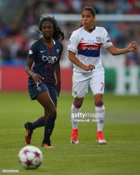 Aminata Diallo of PSG during the UEFA Women's Champions League Final match between Lyon and Paris Saint Germain at Cardiff City Stadium on June 1...