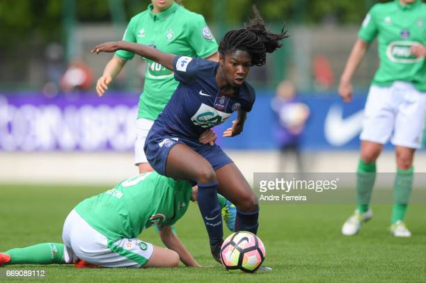 Aminata Diallo of PSG during the women's National Cup match between Paris Saint Germain PSG and AS Saint Etienne at Camp des Loges on April 16 2017...