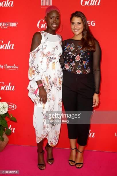 Aminata Sanogo and Celine Denefleh attend the Gala Fashion Brunch during the MercedesBenz Fashion Week Berlin Spring/Summer 2018 at Ellington Hotel...