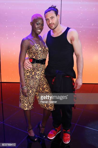 Aminata Sanogo and Marc Eggers during the 1st show of the television competition 'Dance Dance Dance' on July 12 2017 in Cologne Germany The first...