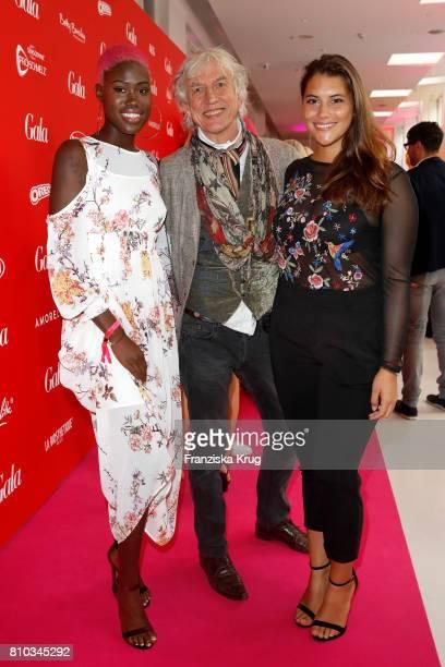 Aminata Sanogo Ted Linow and Celine Denefleh attend the Gala Fashion Brunch during the MercedesBenz Fashion Week Berlin Spring/Summer 2018 at...