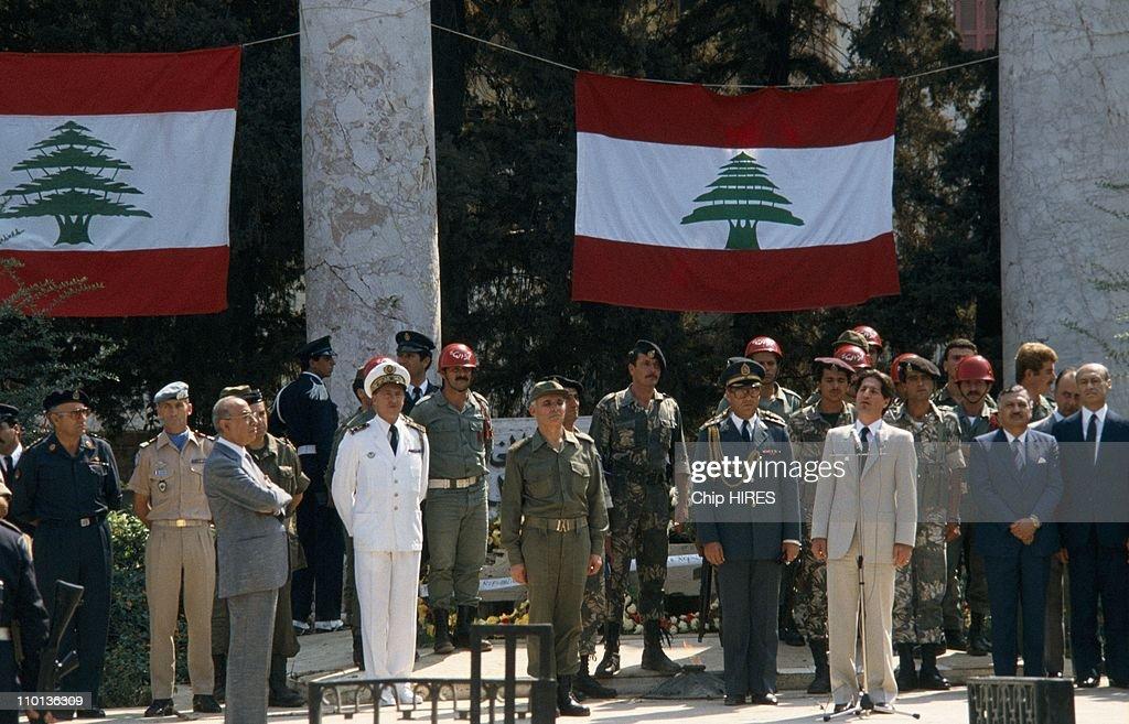 Amine Gemayel in Beirut,Lebanon on September 30th,1982.