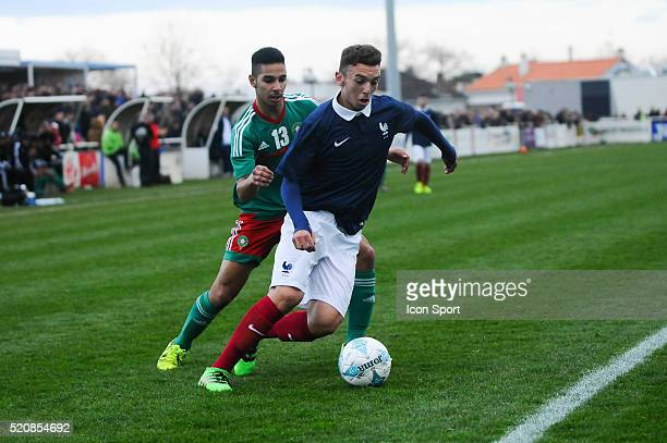 Amine Gouiri of France during the U16 Mondial football match between France and Marocco on March 26 2016 in Montaigu France