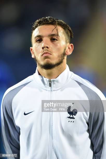 Amine Gouiri of France looks on during the FIFA U17 World Cup India 2017 group E match between New Caledonia and France at Indira Gandhi Athletic...