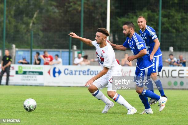 Amine Gouiri of Lyon during the friendly match between Olympique Lyonnais and BourgenBresse on July 8 2017 in Peronnas France