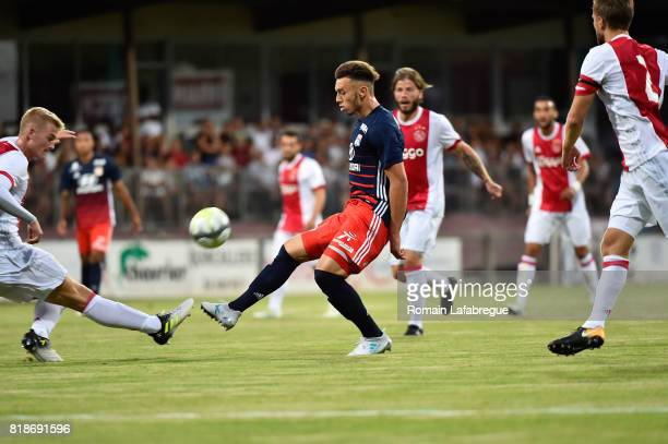 Amine Gouiri of Lyon during the friendly match between Olympique Lyonnais Lyon and Ajax Amsterdam on July 18 2017 in BourgoinJallieu France