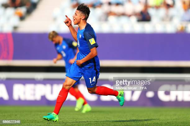 Amine Harit of France celebrates after scoring a goal during the FIFA U20 World Cup Korea Republic 2017 group E match between France and Honduras at...