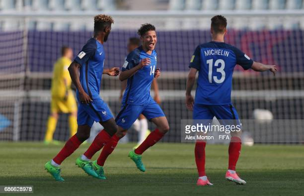 Amine Harit of France celebrtes after scoring their second goal during the FIFA U20 World Cup Korea Republic 2017 group E match between France and...