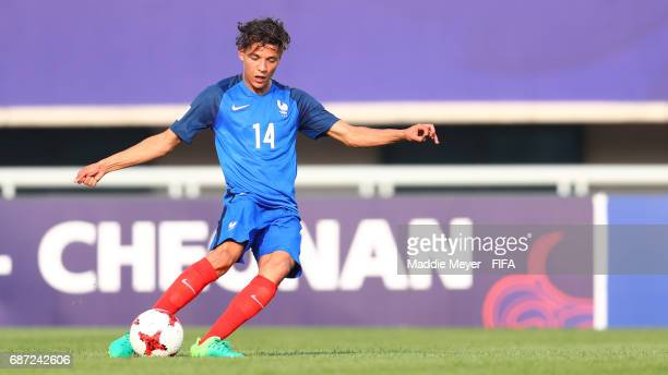 Amine Harit of France clears the ball during the FIFA U20 World Cup Korea Republic 2017 group E match between France and Honduras at Cheonan Baekseok...