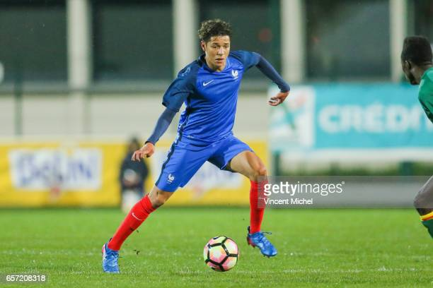 Amine Harit of France during the friendly U20 match between France and Senegal on March 23 2017 in SaintMalo France