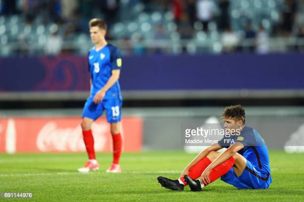 Amine Harit of France reacts after his teams 21 loss to Italy in the FIFA U20 World Cup Korea Republic 2017 Round of 16 match at Cheonan Baekseok...