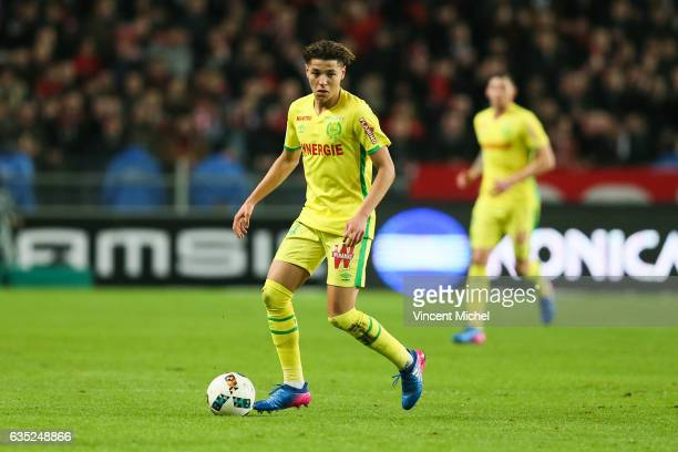 Amine Harit of Nantes during the French Ligue 1 match between Rennes and Nantes at Stade de la Route de Lorient on January 28 2017 in Rennes France