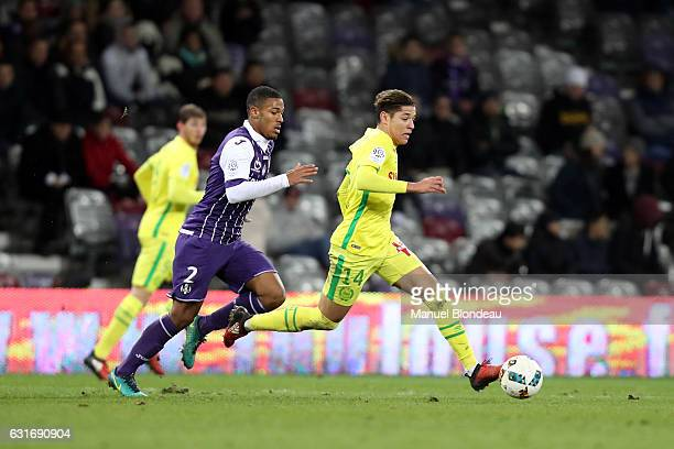 Amine Harit of Nantes during the Ligue 1 match between Toulouse FC and FC Nantes at Stadium Municipal on January 14 2017 in Toulouse France
