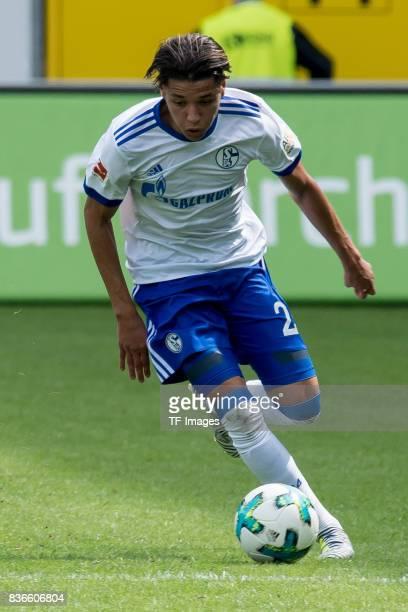 Amine Harit of Schalke controls the ball during the preseason friendly match between SC Paderborn and FC Schalke 04 at BentelerArena on July 15 2017...
