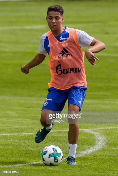 Amine Harit of Schalke controls the ball during the Training Camp of FC Schalke 04 on July 27 2017 in Mittersill Austria