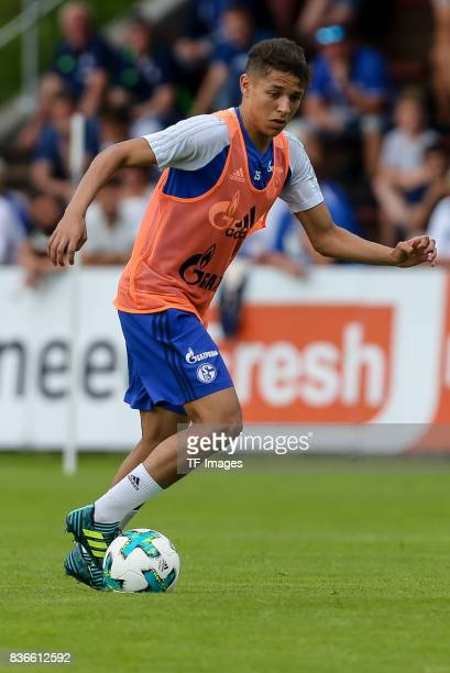 Amine Harit of Schalke controls the ball during the Training Camp of FC Schalke 04 on July 30 2017 in Mittersill Austria