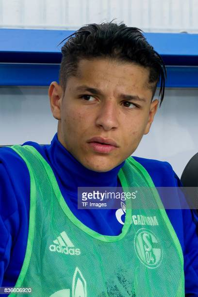 Amine Harit of Schalke looks on during the preseason friendly match between SC Paderborn and FC Schalke 04 at BentelerArena on July 15 2017 in...