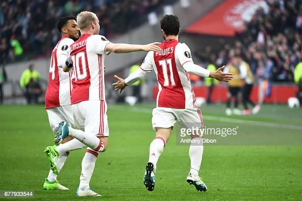 Ajax Amsterdam v Olympique Lyonnais - Uefa Europa League - Semi Final First leg : News Photo