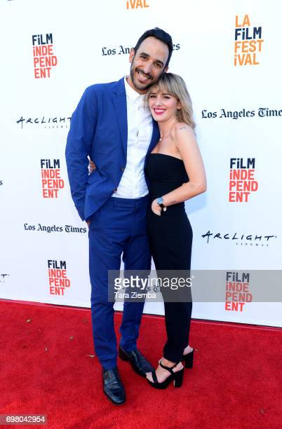 Amir Arison and Addison Timlin attend the screening of '20 Weeks' during the 2017 Los Angeles Film Festival at Arclight Cinemas Culver City on June...