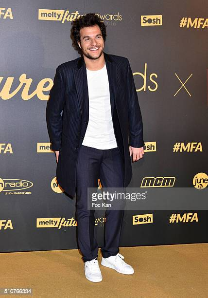 Amir attends The Melty Future Awards 2016 at Le Grand Rex on February 16 2016 in Paris France