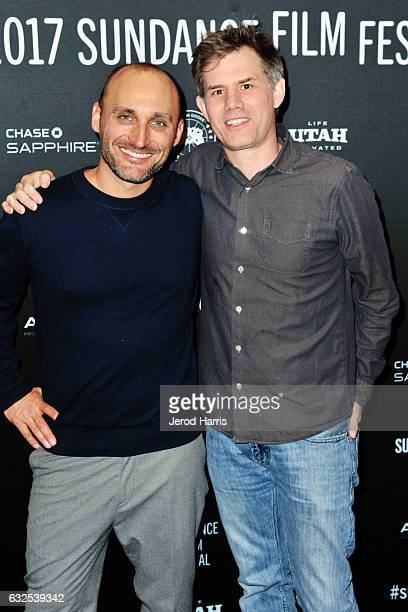 Amir BarLev and John Nein arrive at the 'Long Strange Trip' Premiere at Yarrow Hotel Theater on January 23 2017 in Park City Utah