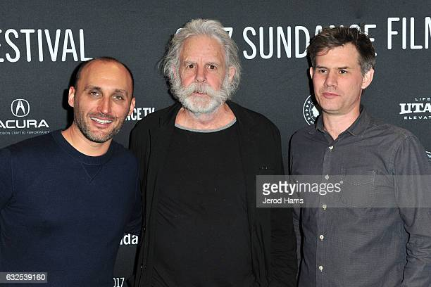 Amir BarLev Bob Weir and John Nein arrive at the 'Long Strange Trip' Premiere at Yarrow Hotel Theater on January 23 2017 in Park City Utah