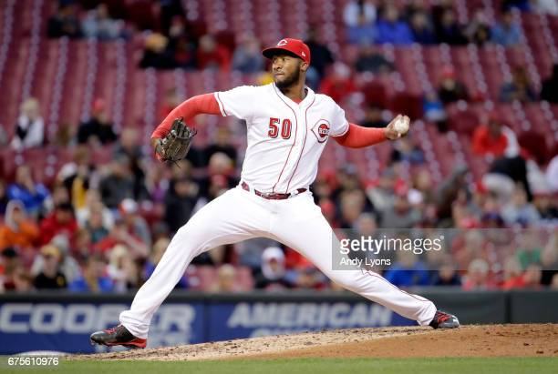 Amir Garrett of the Cincinnati Reds throws a pitch against the Pittsburgh Pirates at Great American Ball Park on May 1 2017 in Cincinnati Ohio