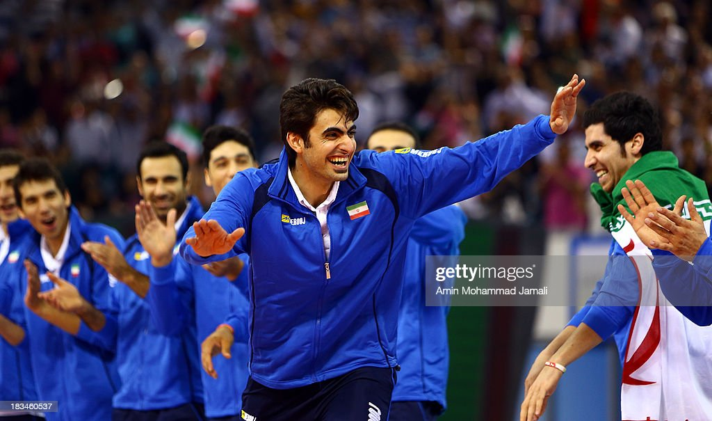 Amir Ghafour during 17th Asian Men's Volleyball Championship between Iran And Korea on October 6, 2013 in Dubai, United Arab Emirates.