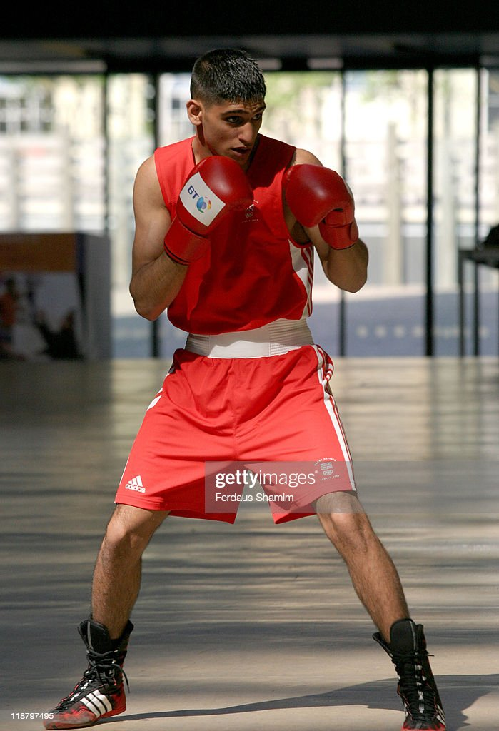 Amir Khan during Launch of London 2012 Photocall at Tate Modern in London Great Britain