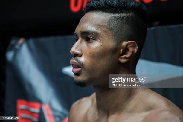 Amir Khan getting ready for his bout against Jaroslav Jartim during ONE Championship Shanghai at the Shanghai Oriental Sports Center on September 02...