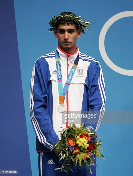 Amir Khan of Great Britain receives his silver medal for the men's boxing 60 kg event on August 29 2004 during the Athens 2004 Summer Olympic Games...