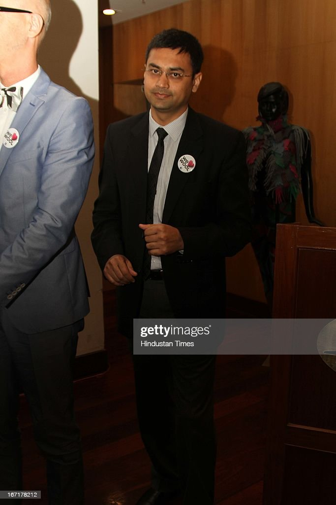 Amir Sheikh Woolmark Company India country manager during the announcement of Indian finalists for International Woolmark Prize at Australian High Commission on April 17, 2013 in New Delhi, India. 6 Indian designers were chosen to compete this year for the International Woolmark Prize.