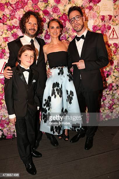 Amir Tessler Actor Gilad Kahana director Natalie Portman and producer Ram Bergman attend the 'A Tale of Love and Darkness' Party during the 68th...