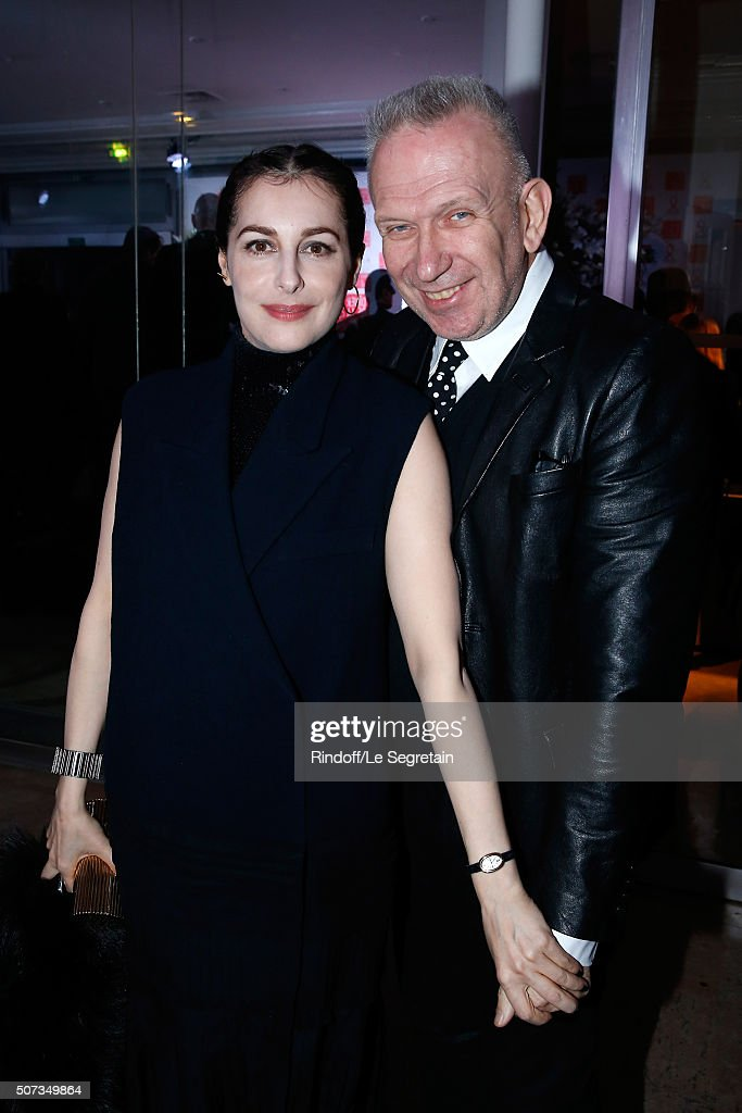 <a gi-track='captionPersonalityLinkClicked' href=/galleries/search?phrase=Amira+Casar&family=editorial&specificpeople=239076 ng-click='$event.stopPropagation()'>Amira Casar</a> and Stylist Jean-Paul Gaultier attend the Sidaction Gala Dinner 2016 as part of Paris Fashion Week. Held at Pavillon d'Armenonville on January 28, 2016 in Paris, France.
