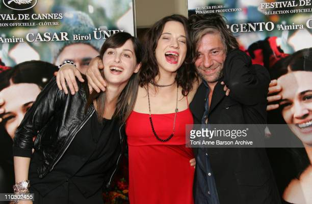 Amira Casar Asia Argento and Birol Unel during 'Transylvania' Premiere Arrivals at UGC CIne Cite Les Halles in Paris France