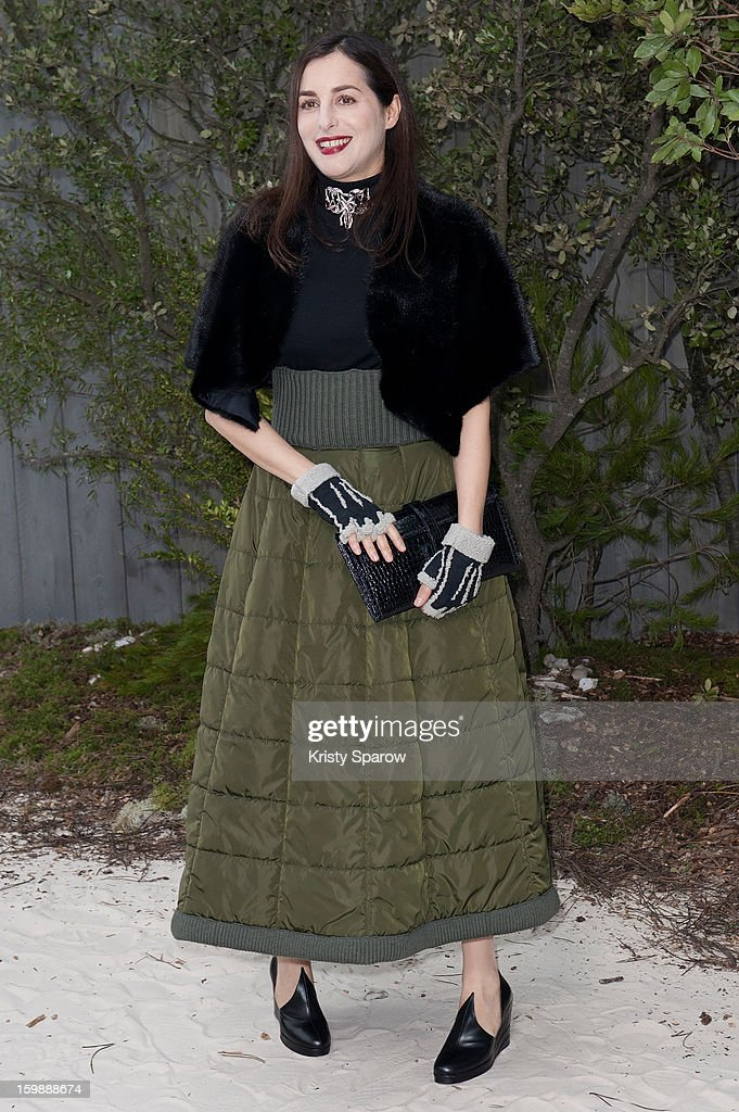 Amira Casar attends the Chanel Spring/Summer 2013 Haute-Couture show as part of Paris Fashion Week at Grand Palais on January 22, 2013 in Paris, France.