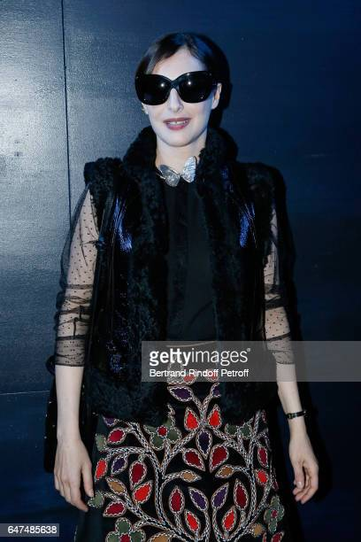 Amira Casar attends the Christian Dior show as part of the Paris Fashion Week Womenswear Fall/Winter 2017/2018 on March 3 2017 in Paris France