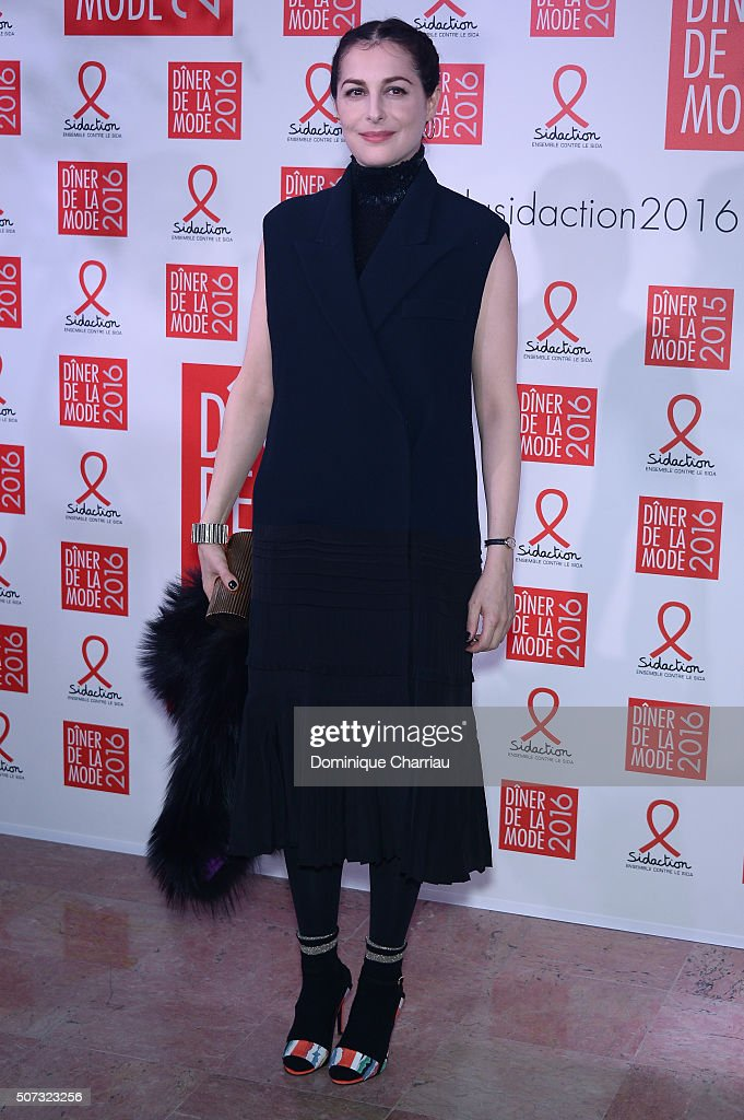 Amira Casar attends the Sidaction Gala Dinner 2016 as part of Paris Fashion Week on January 28, 2016 in Paris, France.