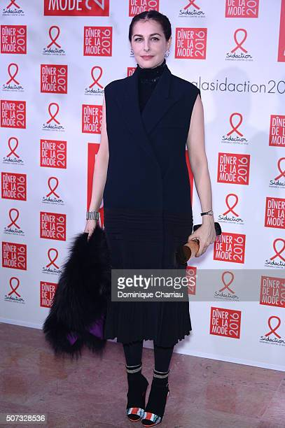 Amira Casar attends the Sidaction Gala Dinner 2016 as part of Paris Fashion Week on January 28 2016 in Paris France
