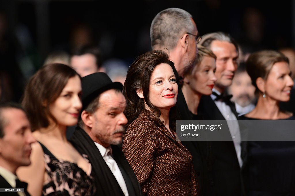 Amira Casar, Denis Lavant, Arnaud des Pallieres, Delphine Chuillot, Mads Mikkelsen and Hanne Jacobsen attend the 'Michael Kohlhaas' premiere during The 66th Annual Cannes Film Festival at the Palais des Festival on May 24, 2013 in Cannes, France.